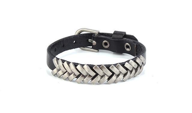 Dragon Scales Real Genuine Leather Bracelet