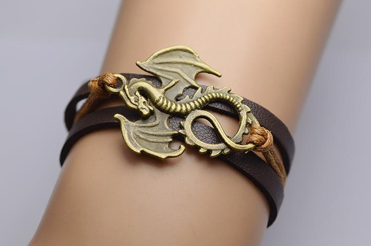 Handmade Leather Dragon Bracelets