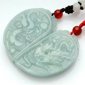 Jadeite Pendant Carved Chinese Dragon Phoenix  Pendants
