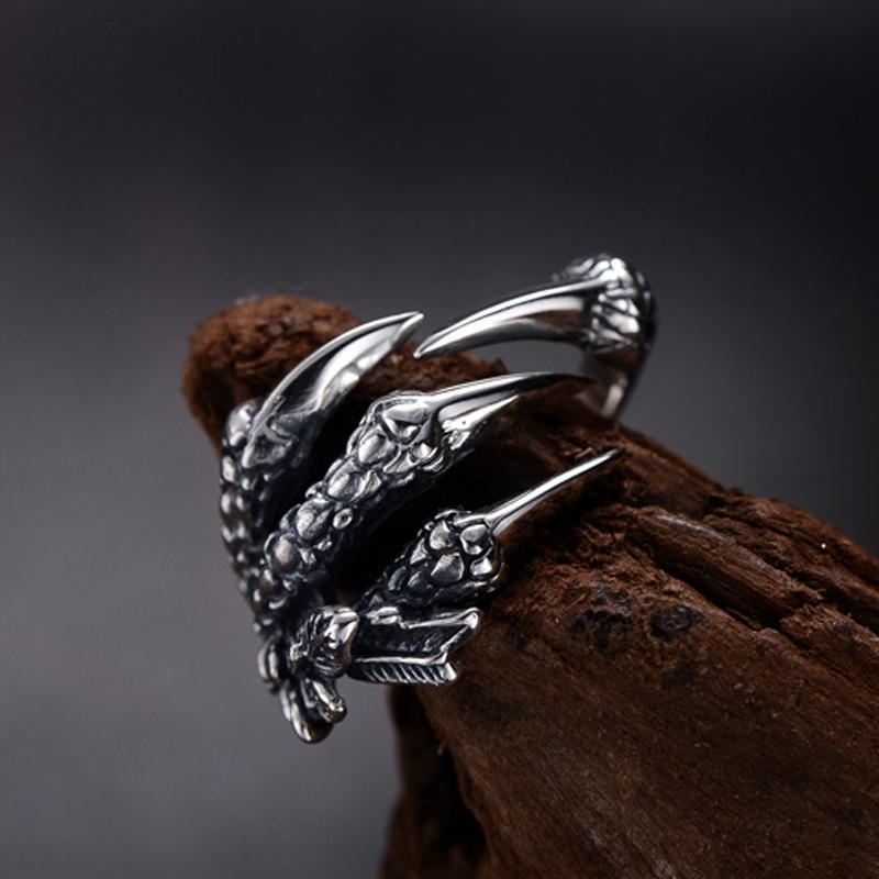 Stainless Steel Dragon Claws Rings