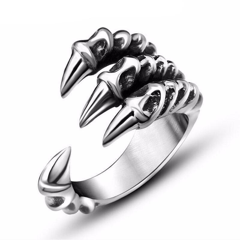 TrustyLan 168 store rings Silver  Stainless Steel Dragon  Ring