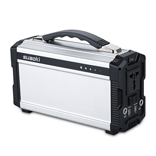 Suaoki 220Wh/20,000mAh Portable Generator Power Source Power Supply with 100V/110V/50Hz, Max 200W AC Power Inverters, 12V/5A DC & USB Ports, Charged by DC Input/Solar Panels