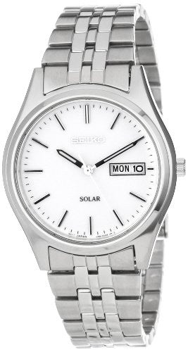 Seiko Men's SNE031 Stainless Steel Solar-Powered Watch