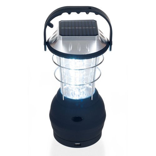 Solar Lantern, LED Camping Lantern by Wakeman Outdoors (Emergency Light, Camping Gear for Hiking, Fishing, and Outages)