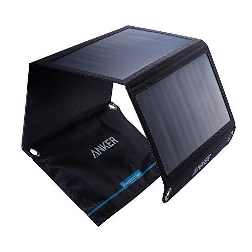 Anker 21W Dual USB Solar Charger, PowerPort Solar for iPhone 7 / 6s / Plus, iPad Pro / Air 2 / mini, Galaxy S7 / S6 / Edge / Plus, Note 5 / 4, LG, Nexus, HTC and More
