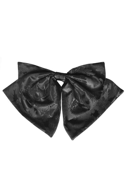 Oversized Bow in Black Floral