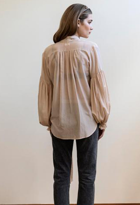 Mahsa Bow Blouse in Nude | Style Odyssey