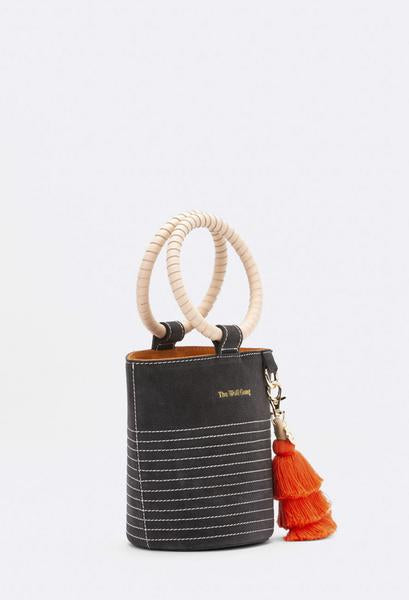Style Odyssey The Mini Congo Cylinder Bag in Dark Storm by The Wolf Gang