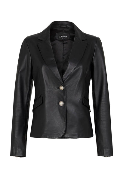 Zahlia | The Blazer, leather jacket. Style Odyssey