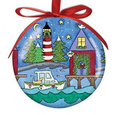 New England Christmas Hanging Ball Christmas Ornament High Gloss Resin