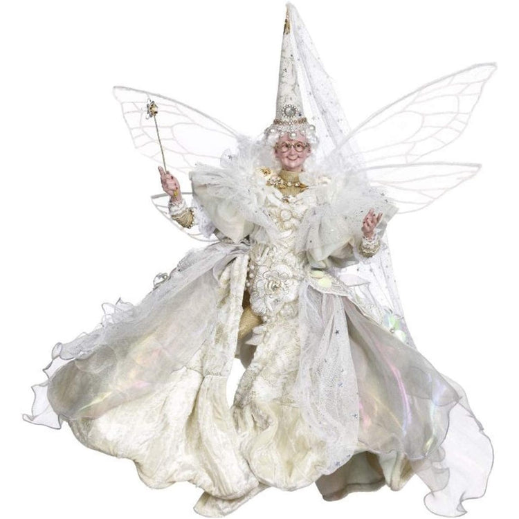 Fairy godmother with an elegant white & gold dress