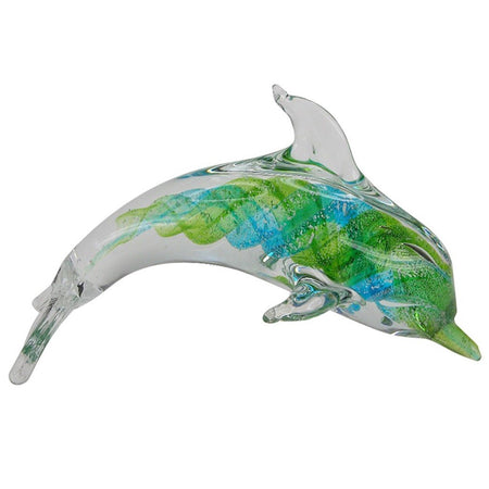 Multi Color Glass Dolphin 7.5 Inches