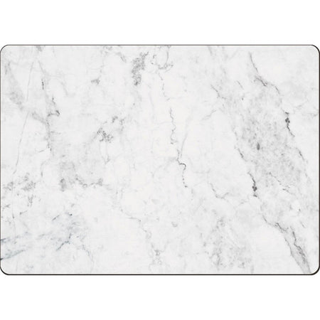 White and gray marble look hardboard placemat.