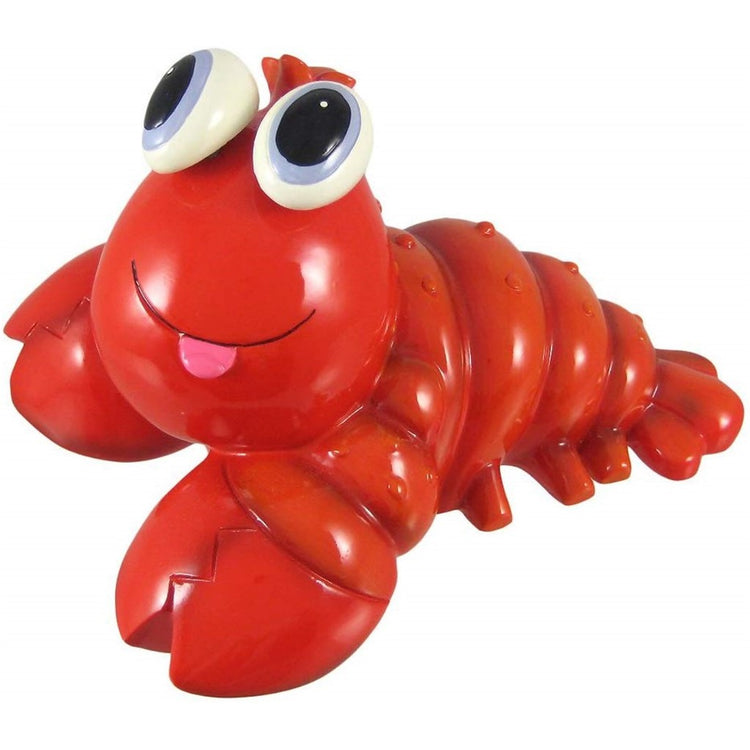 Red lobster with large eyes figurine coin bank.