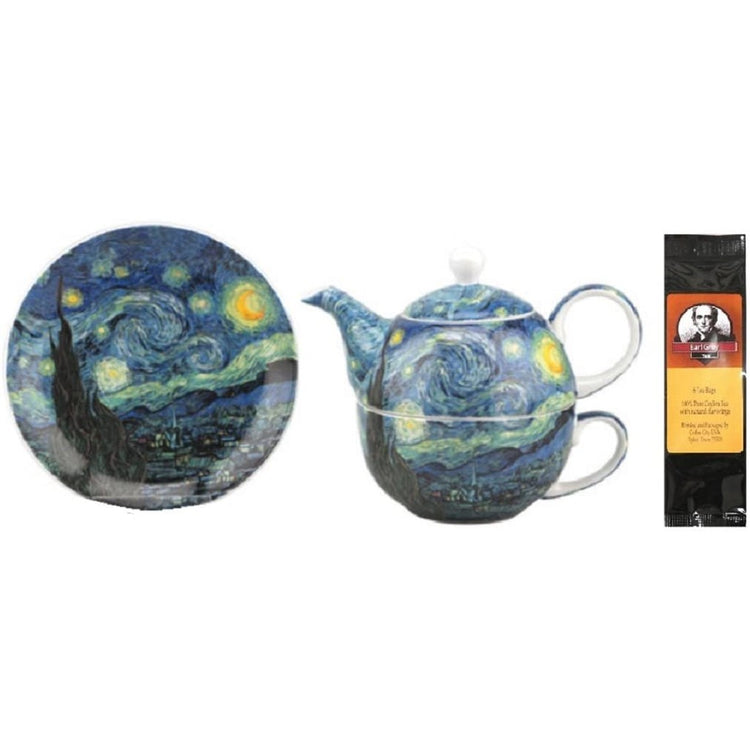 Van Gogh Starry Night Tea for One in Matching Gift Box and Gift Packaged Tea