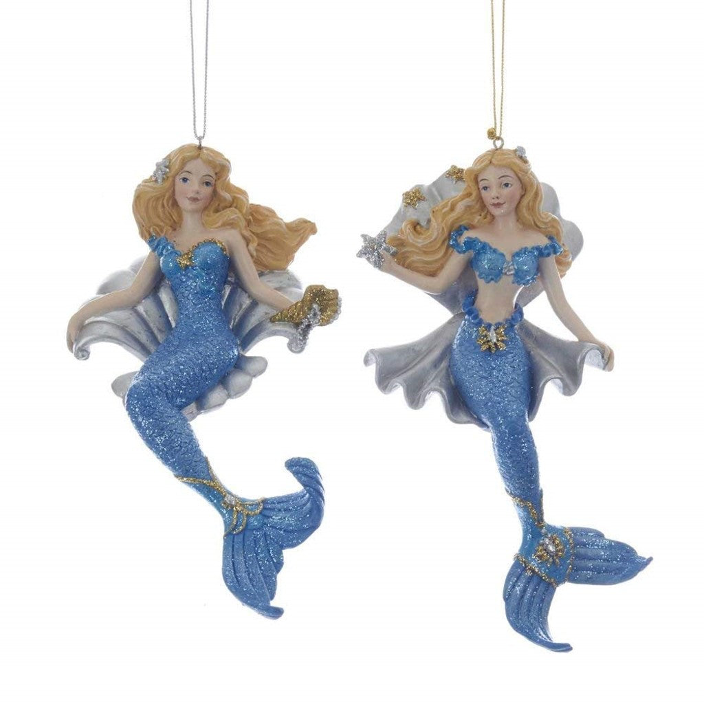 2 Mermaid With Shell Ornaments