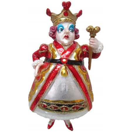 December  Diamonds 79-81092 Resin And Blown Glass Queen Of Hearts Hanging Ornament 5.5 Inches