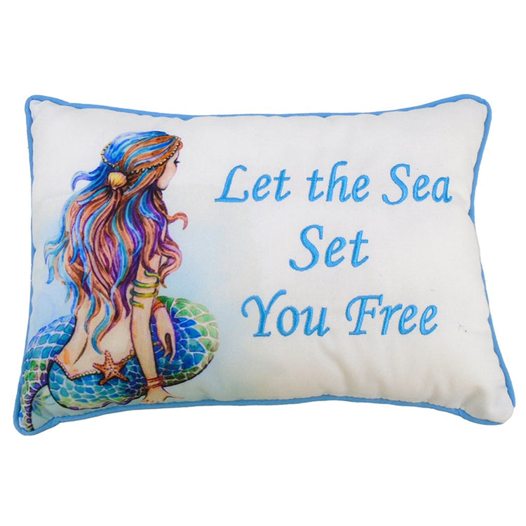 Mermaid Pillow, Let The Sea Set You Free