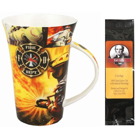 The Firefighter's Prayer Mug in a Matching Gift Box 6 Tea Bags