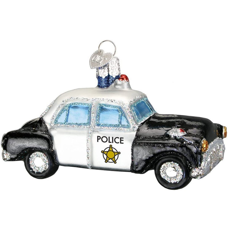 police car with sparkle embellishments