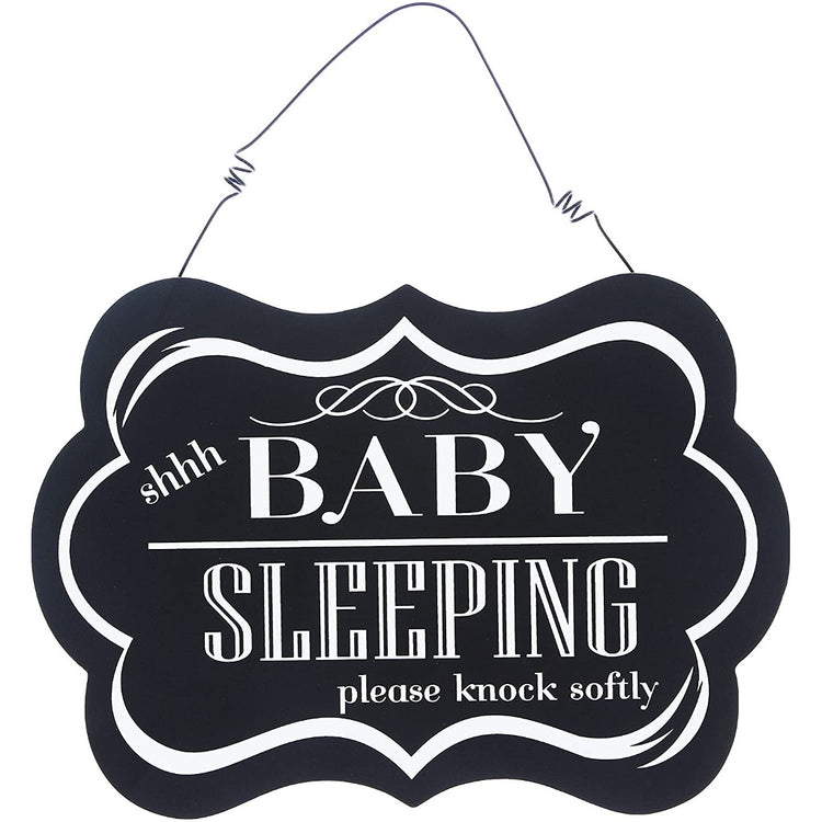 "Hanging Wood Decorative Sign ""Shhh Baby Sleeping"""