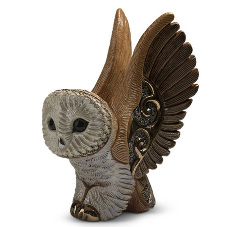 Barn Owl Figurine F218 3.875 Inches x 2.375 Inches x 5.125 Inches