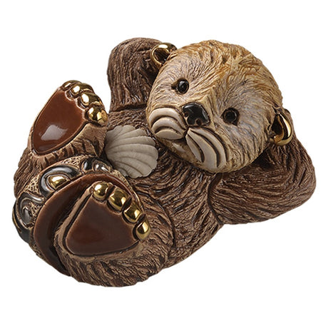Baby Otter Figurine F377 3.125 inches x 2.75 inches x 2.375 Inches