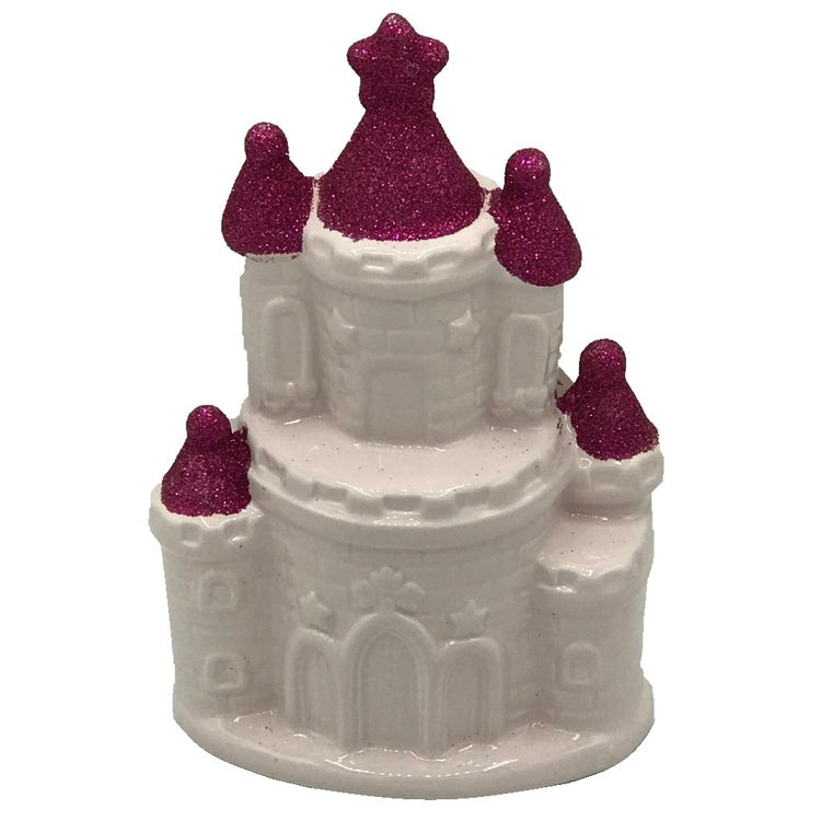 Pink Castle Design Figurine Coin Bank