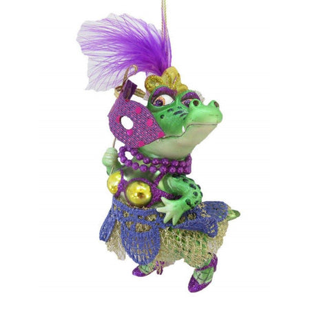 Mrs. Crocodile with Mask Mardi Gras Theme 79-81015 6 Inches