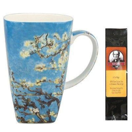 Van Gogh Almond Blossoms Grande Coffee Mug Matching Gift Box and Tea Gift Package