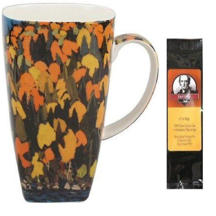 Tom Thompson's Foliage painting is on the outside of the mug.