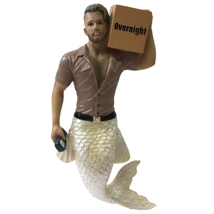December Diamonds Merman Ornament Big Package 55-55105 7 Inches