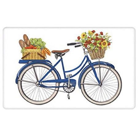 Oh What Fun It Is To Ride Bicycle Embroidered Waffle Towel