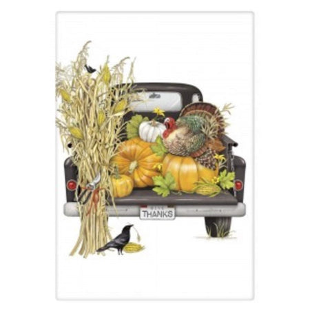Fall Black Truck Flour Sack Towel 30 Inches Square