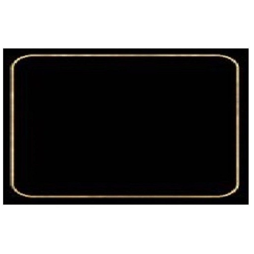 4 Cala Home Premium Hardboard Placemats Table Mats, Black with Gold Border