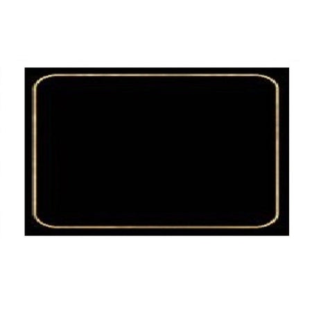 4 Cala Home Premium Hardboard Placemats Table Mats, Navy with Silver Border