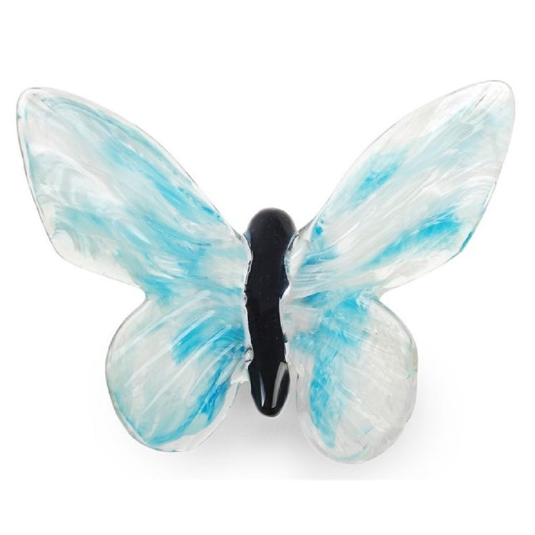Dynasty Gallery Blue Skies Glow Glass Butterfly 25446 6 Inches Wide