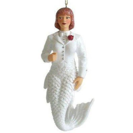 December Diamonds Mermaid Ornament, Bride