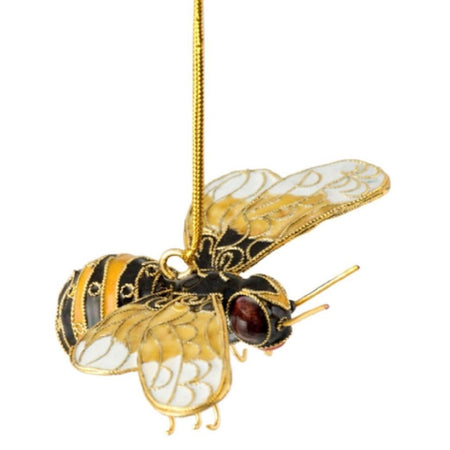 Cloisonne Bumble Bee Hanging Ornament 3.5 Inches