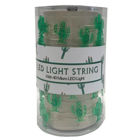 Canister of green cactus shaped micro lights.