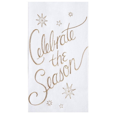 Celebrate The Season Embroidered Flour Sack Christmas Dishtowel