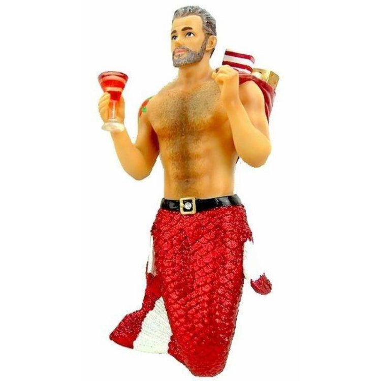 December Diamonds Merman Ornament Santa Daddy II