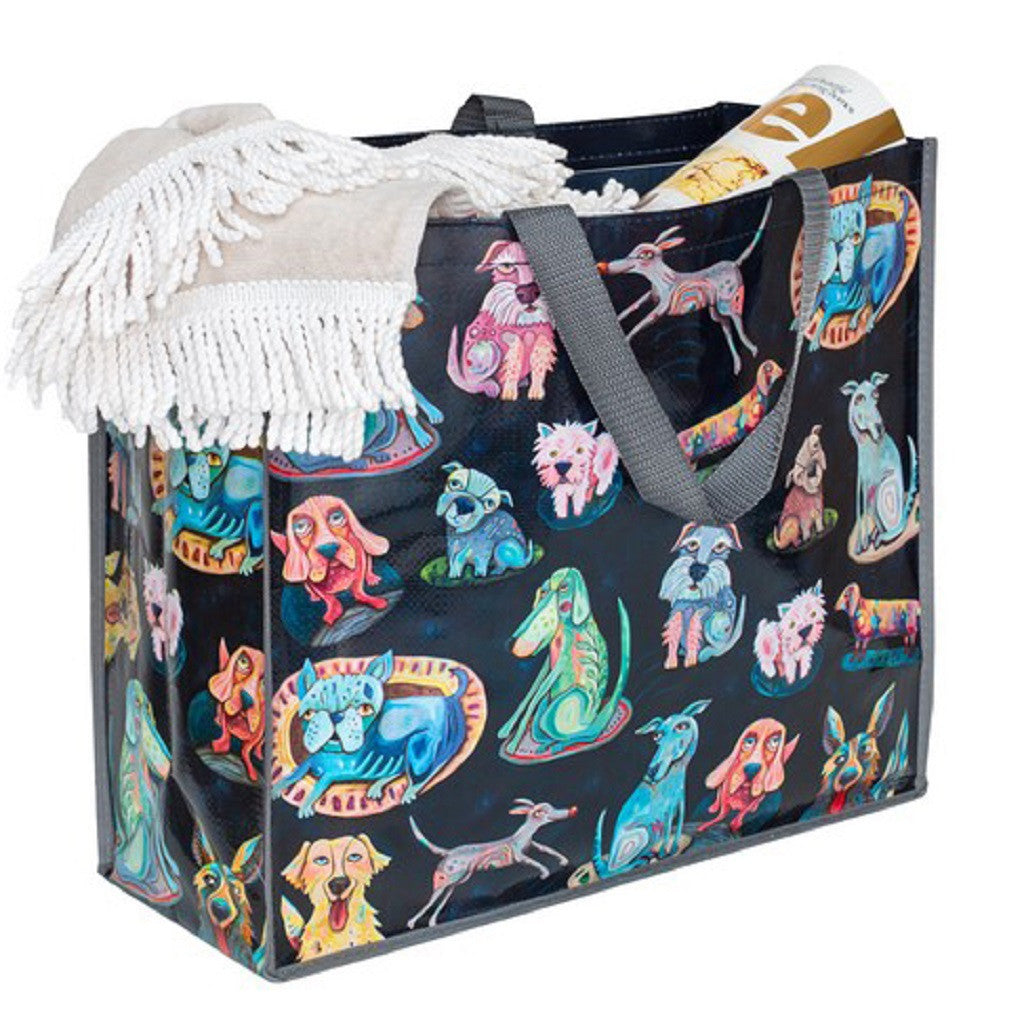 Dog Park Shopper Bag, Beach Bag Reusable Grocery Bag or Travel Tote