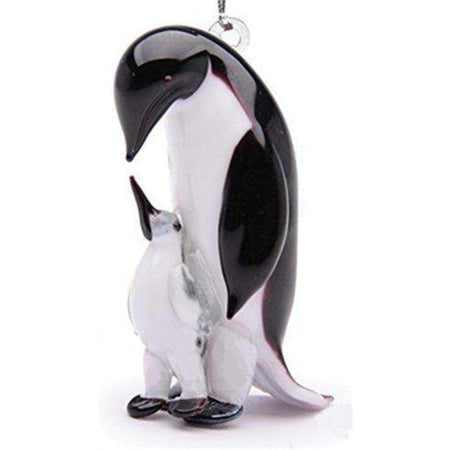 Father and Baby Emperor Penguin Ornament