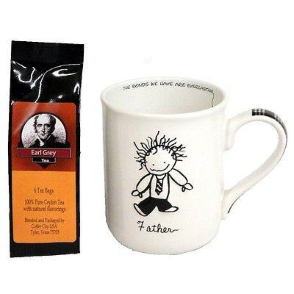 Father Coffee or Tea Mug and 1Package of 6 Earl Grey Tea Bags
