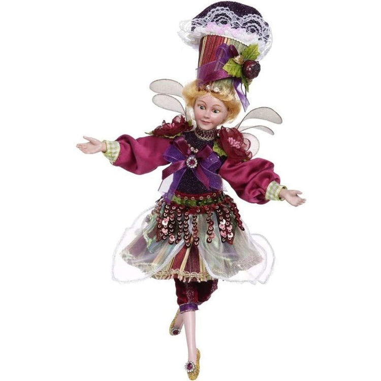 Lady fairy with purple, pink & green outfit accents