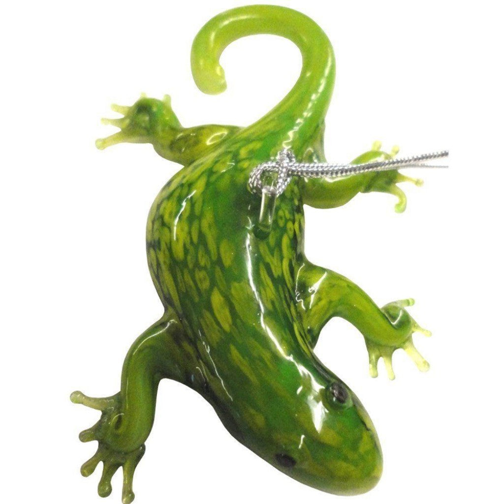 Glass Gecko Christmas Ornament