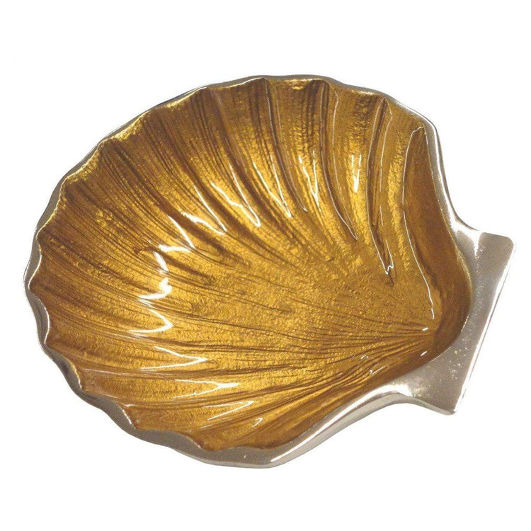 Gold Colored Scallop Tidbit Dish