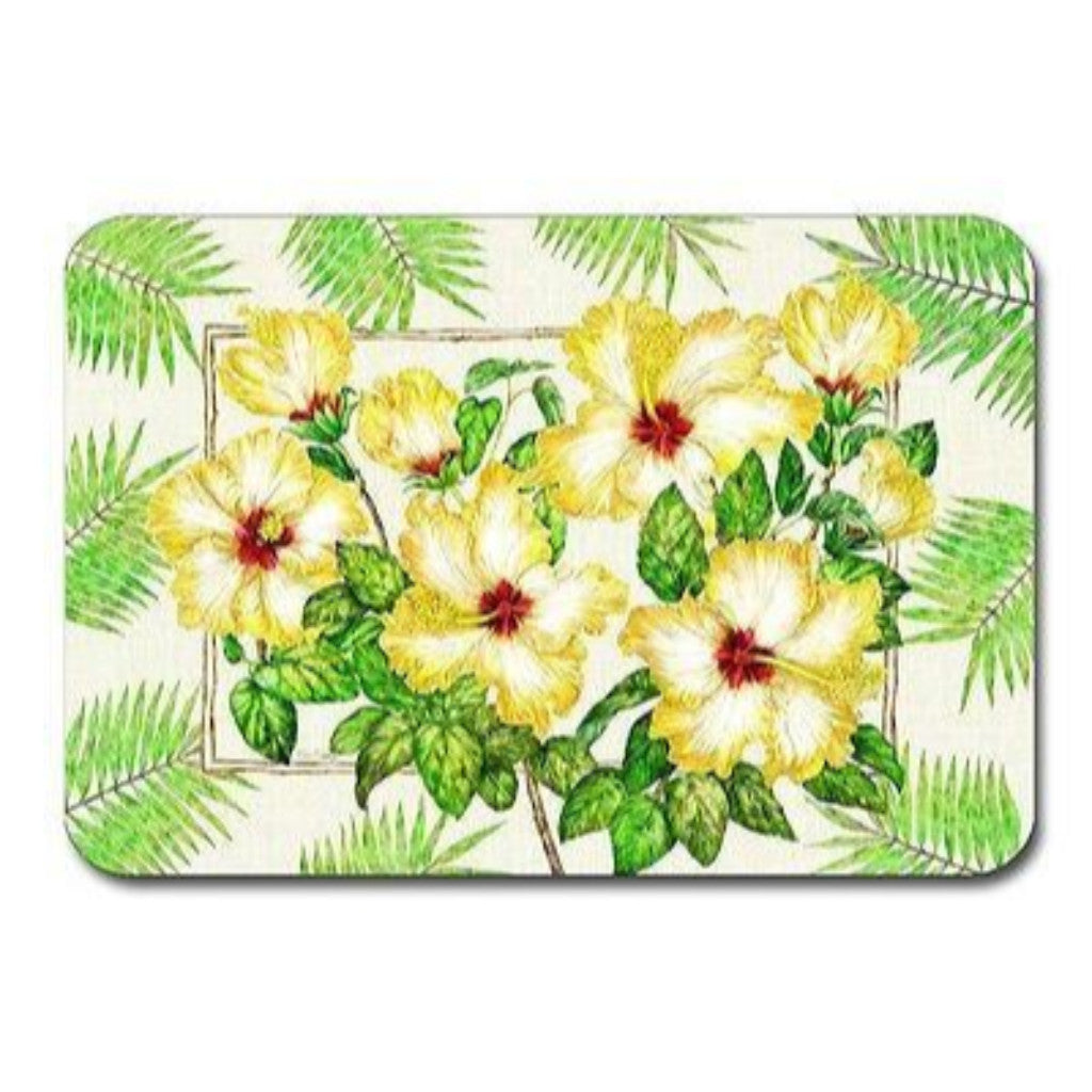 4 Yellow Hibiscus Placemats