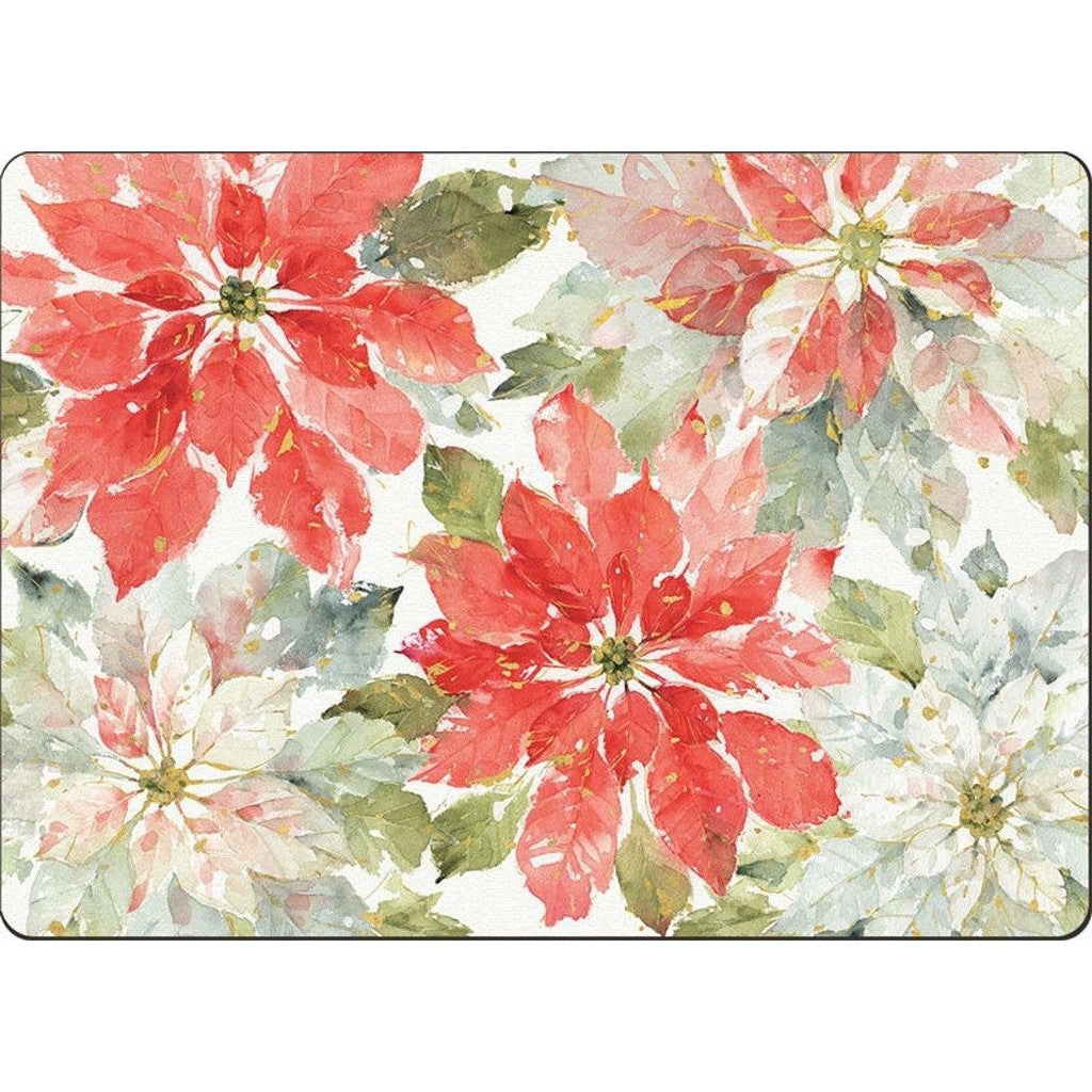 4 Cala Home Premium Hardboard Placemats Table Mats, Home For The Holiday